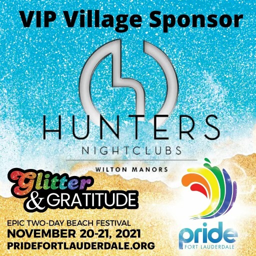 VIP Village Sponsor - Glitter and Gratitude- November 20-21 2021- pridefortlauderdale.org