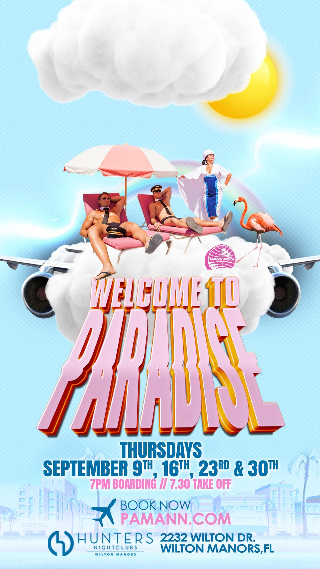 Welcome to Paradise - Thursdays September 9,16,23, and 30.